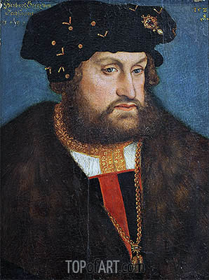 Georg (the Bearded), Duke of Saxony, 1524 | Lucas Cranach | Gemälde Reproduktion