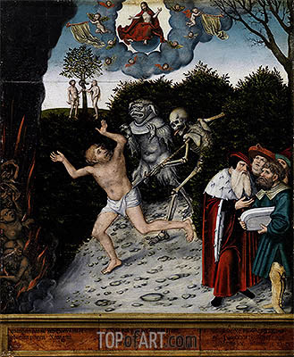 Allegory of Law and Mercy, a.1529 | Lucas Cranach | Painting Reproduction
