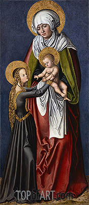The Virgin and Child with St Anne, c.1515 | Lucas Cranach | Gemälde Reproduktion