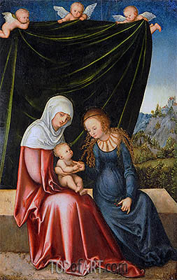 The Virgin and Child with St Anne, c.1520   Lucas Cranach   Gemälde Reproduktion