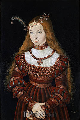 Portrait of Princess Sibylle of Cleve, 1526 | Lucas Cranach | Painting Reproduction
