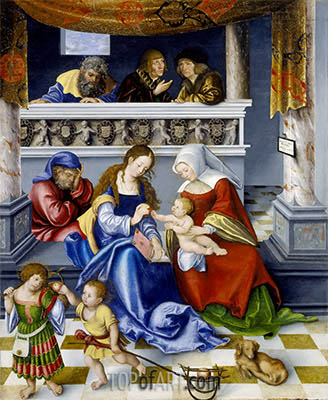 The Altarpiece of the Holy Kinship, 1509 | Lucas Cranach | Painting Reproduction
