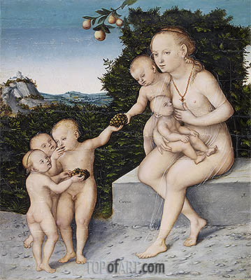 Charity, c.1540 | Lucas Cranach | Painting Reproduction