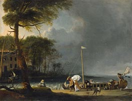 Approaching Storm, 1682 by Bakhuysen | Painting Reproduction