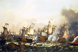 The Battle of Barfleur, 19 May 1692, 1693 by Bakhuysen | Painting Reproduction