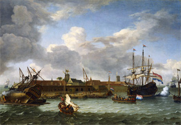The island of Onrust, 1699 by Bakhuysen | Painting Reproduction