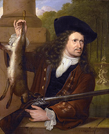 Jan de Hooghe Dressed for Shooting, 1700 by Bakhuysen | Painting Reproduction