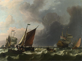 Dutch Men-of-war off Enkhuizen, 1683 by Bakhuysen | Painting Reproduction