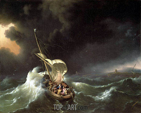 Christ in the Storm on the Sea of Galilee, 1695 | Bakhuysen | Gemälde Reproduktion