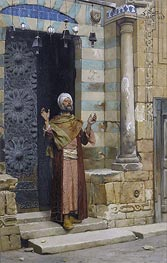 At the Door of the Mosque, 1886 by Ludwig Deutsch | Painting Reproduction