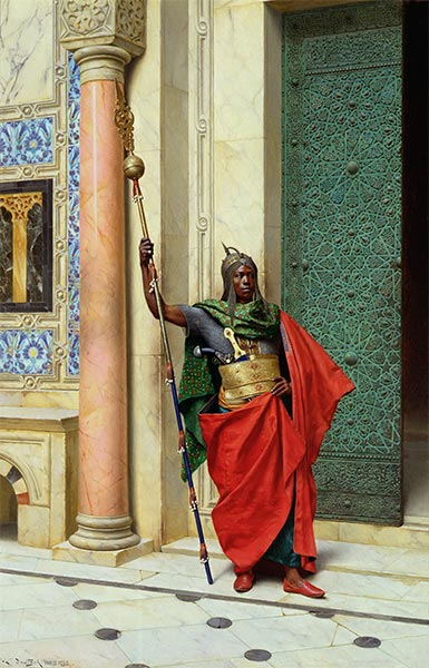 Nubian Guard, 1895 | Ludwig Deutsch | Painting Reproduction