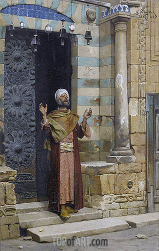 At the Door of the Mosque, 1886 | Ludwig Deutsch | Painting Reproduction