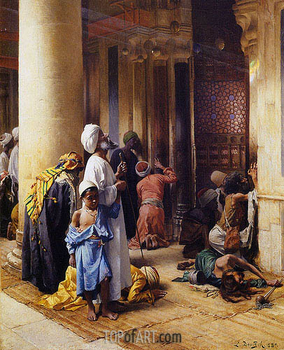 The Hour of Prayer, 1887 | Ludwig Deutsch | Painting Reproduction