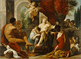 Hercules and Omphale, c.1700/10 by Luigi Garzi | Painting Reproduction