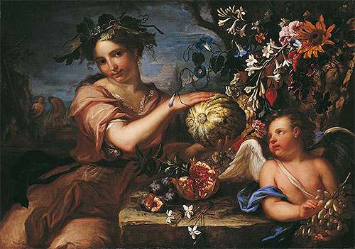 Allegory of Autumn, undated | Luigi Garzi | Painting Reproduction