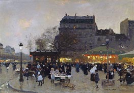 Carousel at the Porte Doree, c.1870 von Luigi Loir | Gemälde-Reproduktion