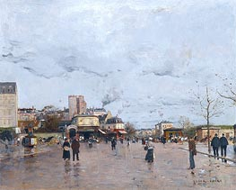 The Porte de Chatillon, Paris, undated by Luigi Loir | Painting Reproduction