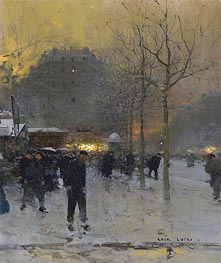 Place des Ternes, Paris, c.1970 by Luigi Loir | Painting Reproduction
