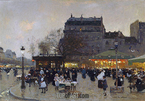 Carousel at the Porte Doree, c.1870 | Luigi Loir | Gemälde Reproduktion
