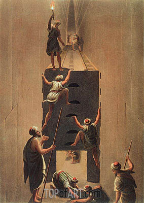 Passage from the Second to the Third Gallery in the Great Pyramid, Undated   Luigi Mayer   Painting Reproduction