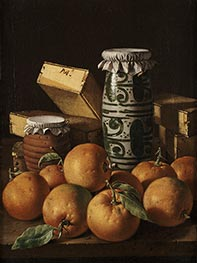 Still Life with Oranges, Jars, and Boxes of Sweets | Luis Egidio Meléndez | Painting Reproduction