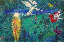 Adam and Eve expelled from Paradise, 1961 by Chagall | Painting Reproduction