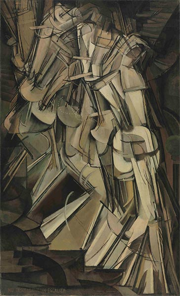 Nude Descending a Staircase II, 1912 | Marcel Duchamp | Painting Reproduction
