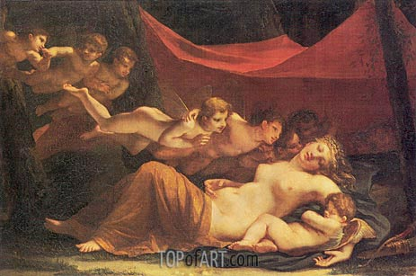 The Sleep of Venus and Cupid, 1806 | Mayer-Lamartiniere | Painting Reproduction