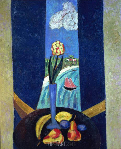 A Bermuda Window in a Semi-tropic Character, 1917   Marsden Hartley   Painting Reproduction