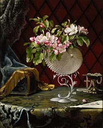 Still Life with Apple Blossoms in a Nautilus Shell, 1870 by Martin Johnson Heade | Painting Reproduction
