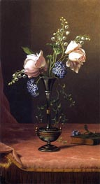 Victorian Vase with Flowers of Devotion, c.1871/80 by Martin Johnson Heade | Painting Reproduction