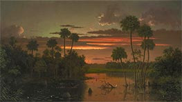 The Great Florida Sunset, 1887 by Martin Johnson Heade | Painting Reproduction
