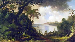 View from Fern-Tree Walk, Jamaica, 1887 by Martin Johnson Heade | Painting Reproduction