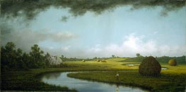 Newburyport Marshes: Approaching Storm, c.1871 by Martin Johnson Heade | Painting Reproduction