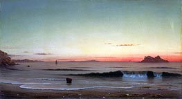 Twilight, Singing Beach, 1863 by Martin Johnson Heade | Painting Reproduction