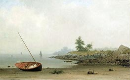 The Stranded Boat, 1863 by Martin Johnson Heade | Painting Reproduction