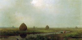 Jersey Marshes, 1874 by Martin Johnson Heade | Painting Reproduction