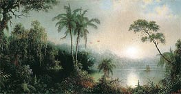 Sunrise in Nicaragua, 1869 by Martin Johnson Heade | Painting Reproduction