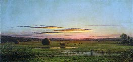 Sunset, c.1880 by Martin Johnson Heade | Painting Reproduction