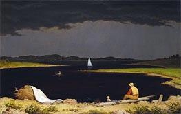 Approaching Thunder Storm, 1859 by Martin Johnson Heade | Painting Reproduction