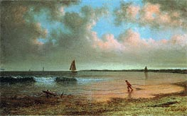 New England Coastal Scene, Undated by Martin Johnson Heade | Painting Reproduction