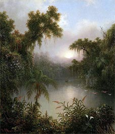 South American River, 1868 by Martin Johnson Heade | Painting Reproduction