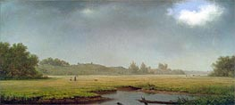 Cloudy Day, Rhode Island, 1861 by Martin Johnson Heade | Painting Reproduction