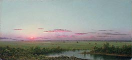 Sunset on Long Beach, a.1867 by Martin Johnson Heade | Painting Reproduction