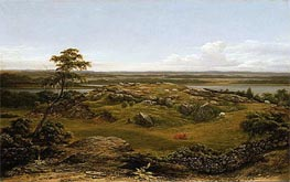 Rocks in New England, 1855 by Martin Johnson Heade | Painting Reproduction
