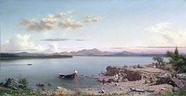 Lake George, 1862 by Martin Johnson Heade | Painting Reproduction