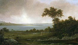 Rhode Island Landscape, 1859 by Martin Johnson Heade | Painting Reproduction