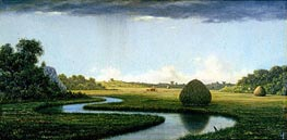Newburyport Marshes:  Passing Storm, c.1865/70 by Martin Johnson Heade | Painting Reproduction