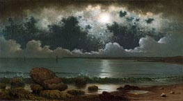 Point Judith, Rhode Island, c.1867/68 by Martin Johnson Heade | Painting Reproduction