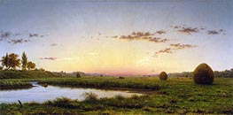 Haystacks on the Newburyport Marshes, 1862 by Martin Johnson Heade | Painting Reproduction